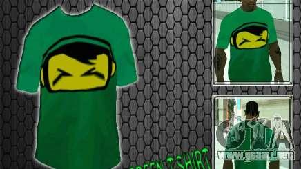 Nueva camiseta verde para GTA San Andreas