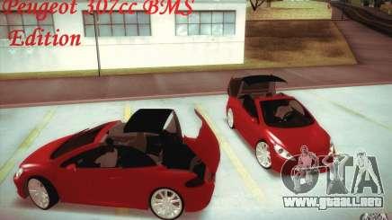 Peugeot 307CC BMS Edition para ordenadores portátiles para GTA San Andreas