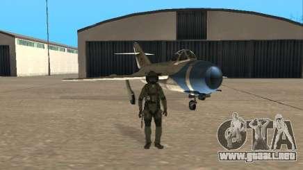 MiG 15 con armas para GTA San Andreas