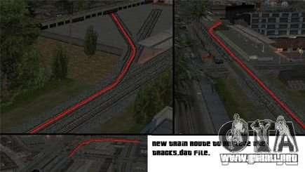 Activación (nuevas rutas de trenes) para GTA San Andreas