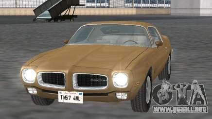 Pontiac Firebird Trans Am 1970 para GTA San Andreas