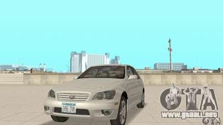 Lexus IS300 Stock para GTA San Andreas