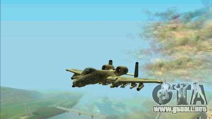 A-10 Warthog para GTA San Andreas