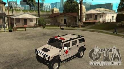 AMG H2 HUMMER - RED CROSS (ambulance) para GTA San Andreas