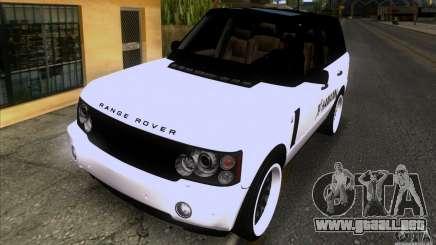 Range Rover Hamann Edition para GTA San Andreas