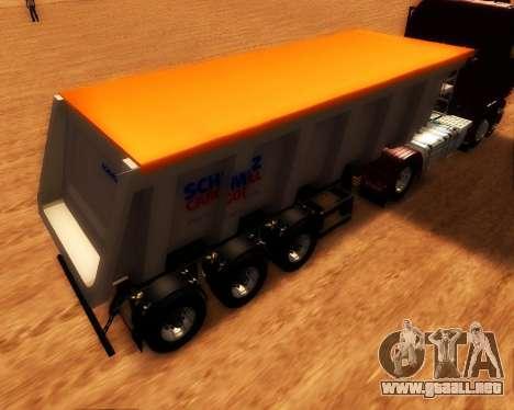 Remolque Schmitz Cargo Toro para GTA San Andreas left