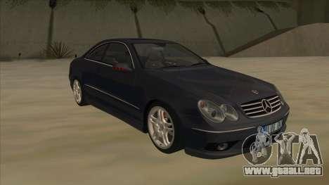 Mercedes-Benz CLK55 AMG 2003 para GTA San Andreas vista hacia atrás