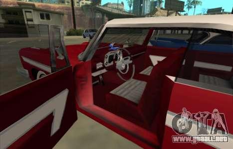 Plymouth Fury para GTA San Andreas vista posterior izquierda