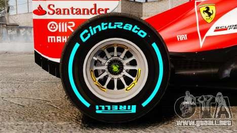 Ferrari F138 2013 v1 para GTA 4 vista interior