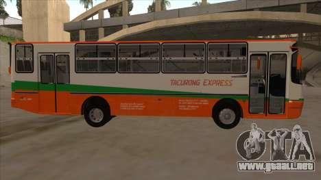 Tacurong Express 368 para GTA San Andreas vista posterior izquierda
