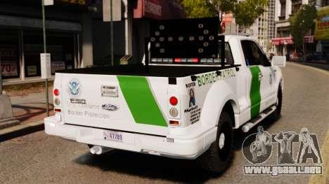 Ford F-150 v3.3 Border Patrol [ELS & EPM] v3 para GTA 4 Vista posterior izquierda