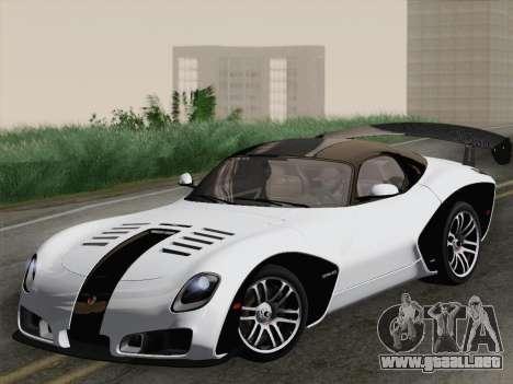 Devon GTX 2010 para GTA San Andreas interior