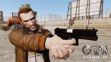 Glock 17 pistola autocargable v2 para GTA 4 tercera pantalla