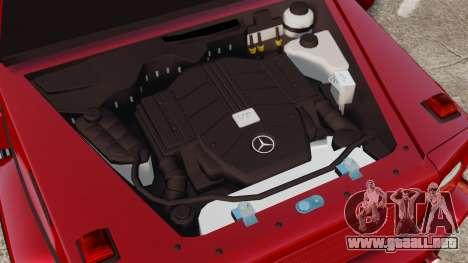 Mercedes-Benz G500 para GTA 4 vista hacia atrás