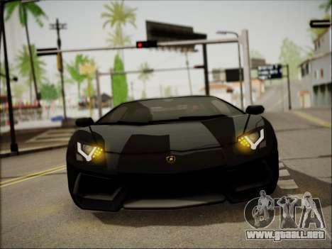Lamborghini Aventador LP700 para visión interna GTA San Andreas