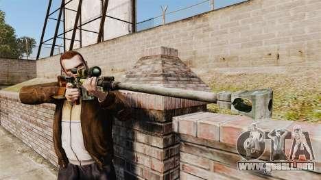 Anti-material rifle para GTA 4 tercera pantalla