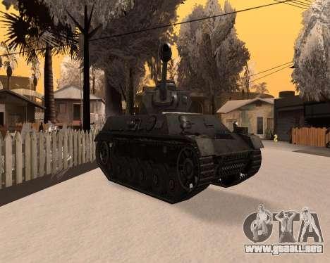 Panzerkampfwagen para la visión correcta GTA San Andreas