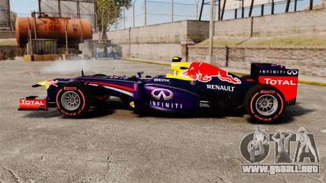 RB9 v6 auto, Red Bull para GTA 4 left