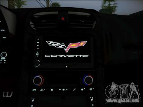 Chevrolet Corvette ZR1 2010 para visión interna GTA San Andreas
