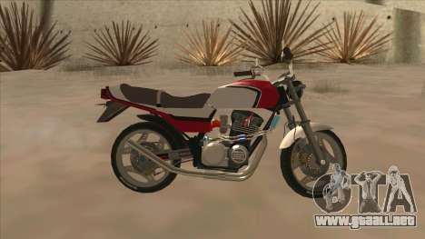 Honda CBX400F para GTA San Andreas left