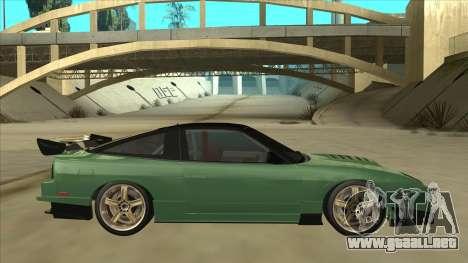 Nissan 180SX Uras GT para GTA San Andreas vista posterior izquierda