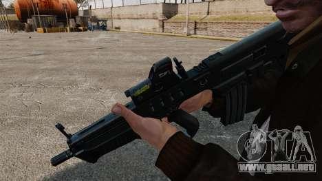 Rifle de asalto TAR-21 para GTA 4 segundos de pantalla