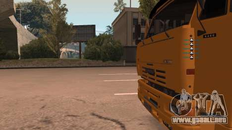 KAMAZ 260 Turbo para la vista superior GTA San Andreas