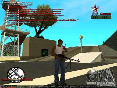 Sobeit 4.2.2.1 (2011) [RUS] para GTA San Andreas tercera pantalla