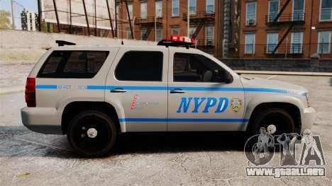 Chevrolet Tahoe 2007 NYPD [ELS] para GTA 4 left