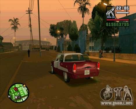 Oceanic HD para GTA San Andreas vista hacia atrás