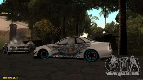 Nissan Skyline GTR 34 CIAY para la visión correcta GTA San Andreas