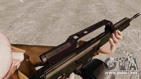Rifle de asalto MG36 v1 H & K para GTA 4 adelante de pantalla