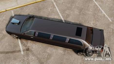 Limusina drag racing para GTA 4 visión correcta