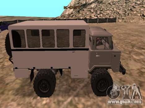 GAZ 66 ver para GTA San Andreas left