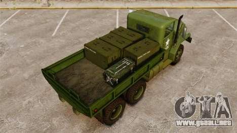Militar básica del carro AM General M35A2 1950 para GTA motor 4