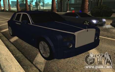 Rolls-Royce Phantom para la vista superior GTA San Andreas