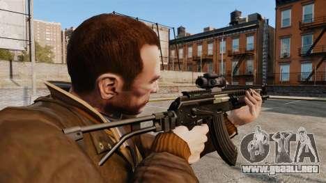 Kalashnikov AK-47 Sopmod para GTA 4 segundos de pantalla