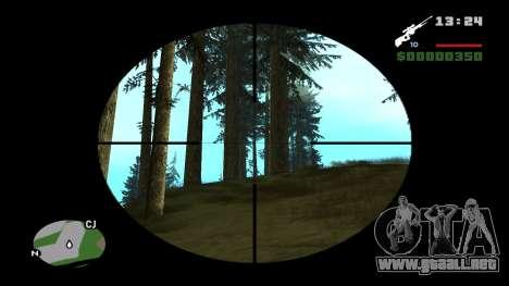 L96A1 para GTA San Andreas segunda pantalla