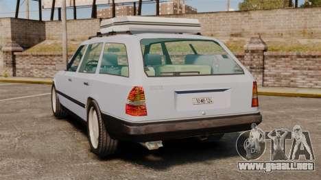 Mercedes-Benz W124 Wagon (S124) para GTA 4 Vista posterior izquierda
