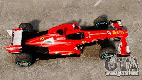 Ferrari F138 2013 v1 para GTA 4 visión correcta