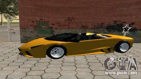 Lamborghini Reventon Shakotan para GTA San Andreas left
