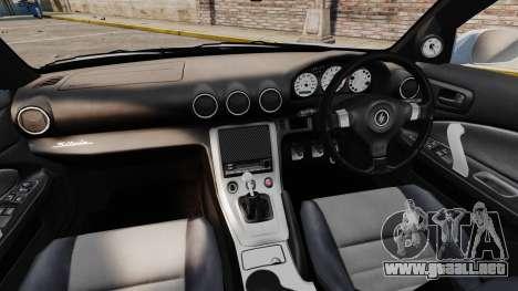 Nissan Silvia S15 v4 para GTA 4 vista hacia atrás