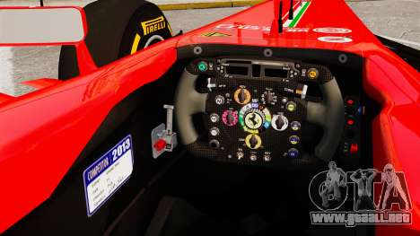 Ferrari F138 2013 v2 para GTA 4 vista interior