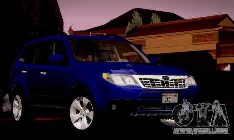 Subaru Forester XT 2008 v2.0 para vista lateral GTA San Andreas