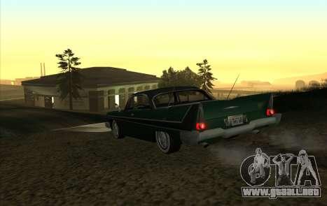 Plymouth Fury para la visión correcta GTA San Andreas