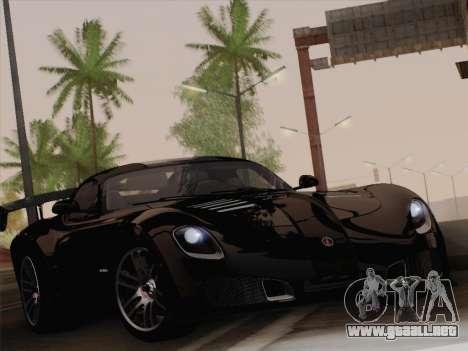 Devon GTX 2010 para GTA San Andreas vista posterior izquierda