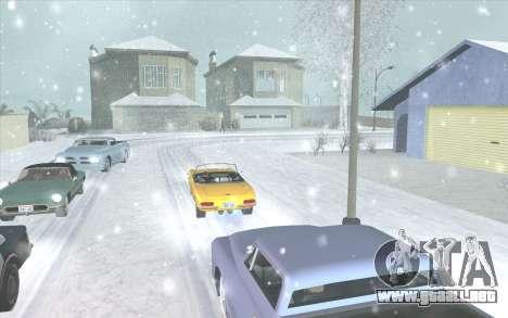 Snow San Andreas 2011 HQ - SA:MP 1.1 para GTA San Andreas sucesivamente de pantalla