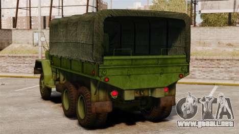 Militar básica del carro AM General M35A2 1950 para GTA 4 Vista posterior izquierda