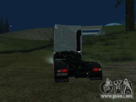 Renault Magnum para GTA San Andreas vista posterior izquierda