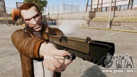 Pistola autocargable USP H & K v2 para GTA 4 tercera pantalla
